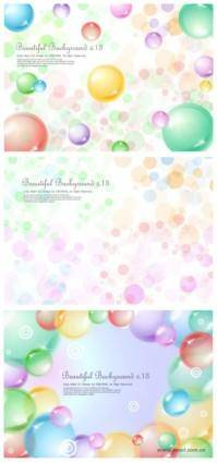 3 transparent sphere background vector