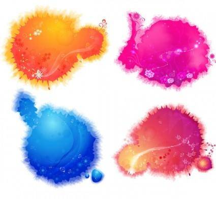 4color ink background vector