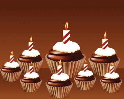 free vector Birthday cake 03 vector