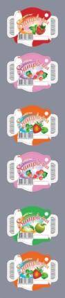 Beautiful fruit paste vector