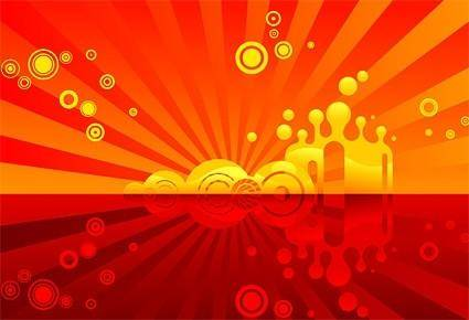 Red theme vector background