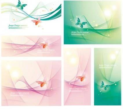free vector Vector fantasy background with butterflies
