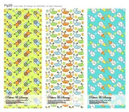 free vector Lovely background series vector 12