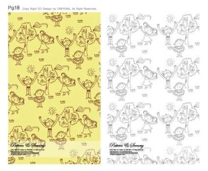 free vector Lovely background series vector 5