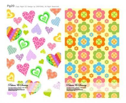 Lovely background series vector 6