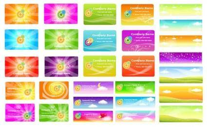 A variety of fantasystyle background vector 2