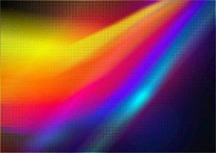 free vector Gorgeous color neon background picture 03 vector