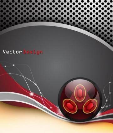 Dynamic cool background design vector 3