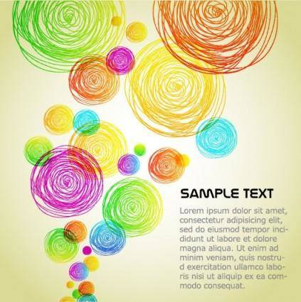 The colorful background clutter vector 2 lines