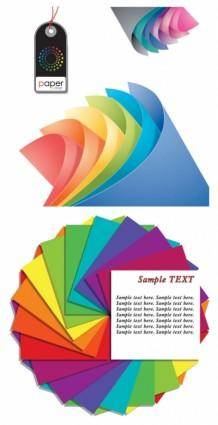 free vector Colored paper vector