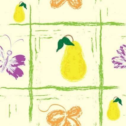 free vector Handpainted fruit background vector 2