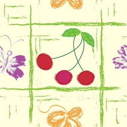 free vector Handpainted fruit background vector 3