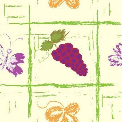 Handpainted fruit background vector 5