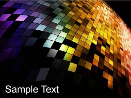 Mosaic background vector 5
