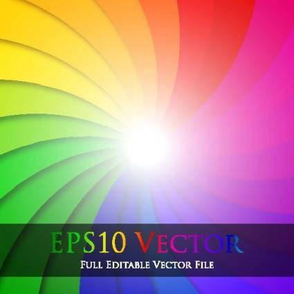 free vector Colorful vector background 4 rotation