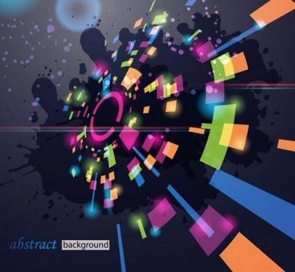 free vector Glare dynamic technology background vector 1