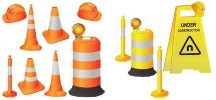 Roadblocks vector