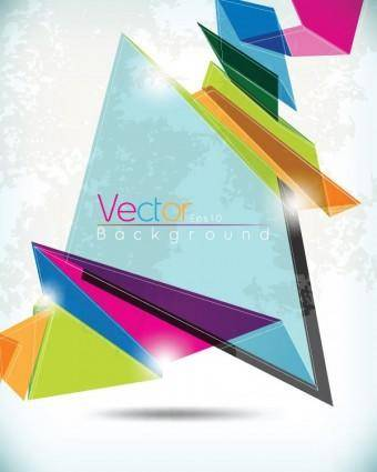 Glare irregular background vector 2