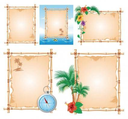 free vector Vector beach theme bulletin board