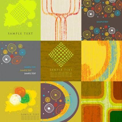 9 stylish vector background