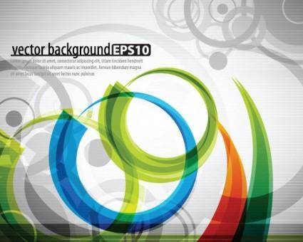 Symphony of dynamic lines of the background vector 2