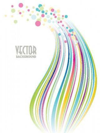 free vector Vector dot background fashion line