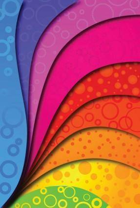 free vector Colorful vector background arc