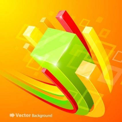 Beautiful vector background 5 cube