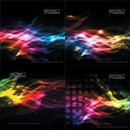 Shine color background vector