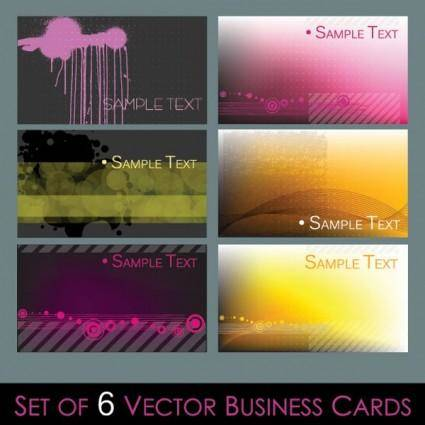 Several simple vector graphics card background