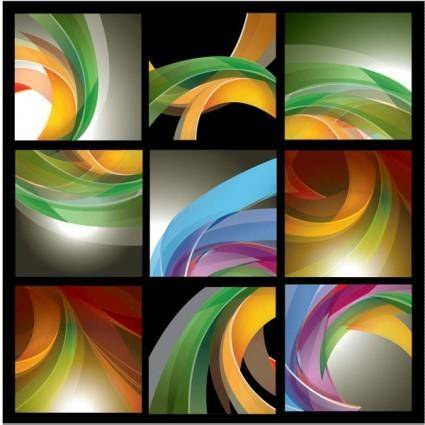 9 threedimensional dynamic lines of the background vector