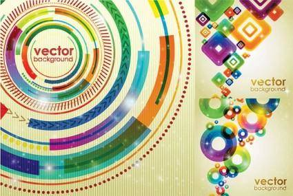 Symphony of the shape vector background