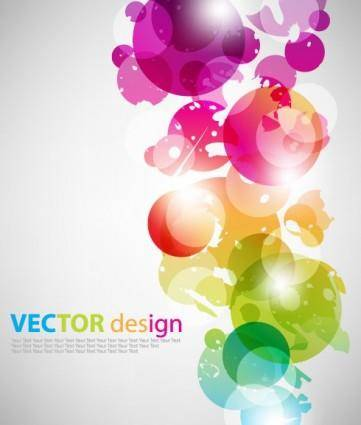 Symphony superimposed circular vector background