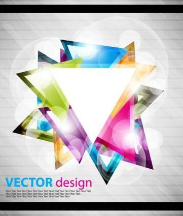 free vector Symphony triangle vector background