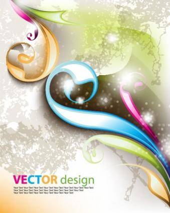 Symphony of the background vector