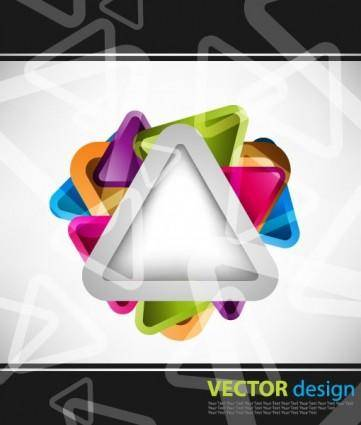 Symphony triangular background vector 2