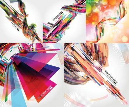 free vector Cool dynamic light vector background