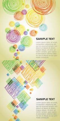 Vector graphics background color pencils