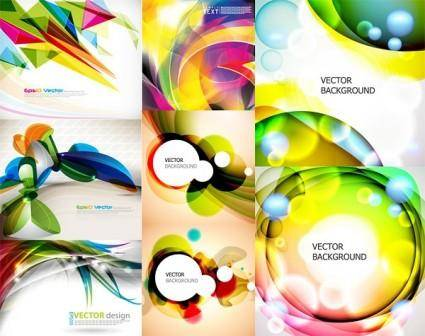 Dynamic background of vector graphic symphony