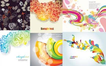 6 stylish vector background