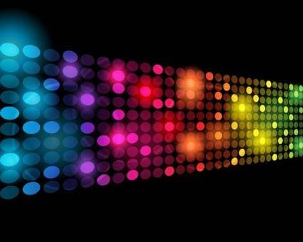 free vector Symphony of light vector dot background 2