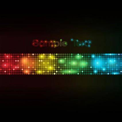 Symphony of light vector dot background 3