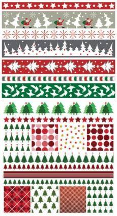 Christmas two sides continuous background 01 vector