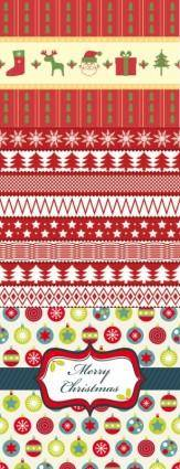 Christmas two sides continuous background 02 vector