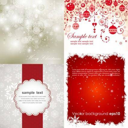 free vector Beautiful christmas background vector