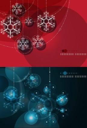 free vector Brilliant ball background vector