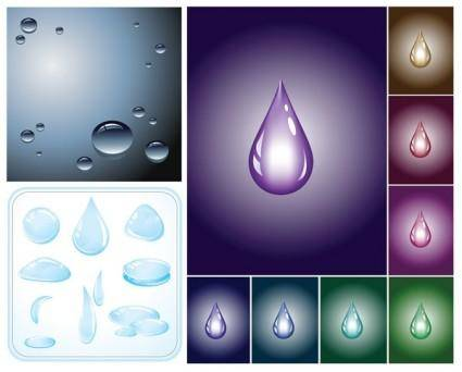 free vector Drops of water droplets vector