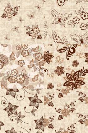 European pattern background vector