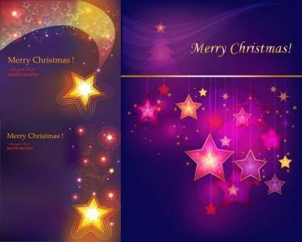 free vector Colorful stars background vector