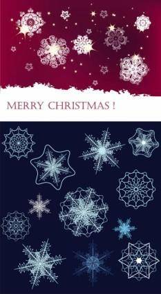 free vector Snowflake background vector